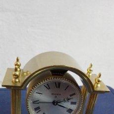 Relojes de carga manual: RELOJ SWIZA 8 DÍAS CUERDA DE CHIMENEA / DESPERTADOR - SWISS MADE -GOLD PLATED BRONZE. Lote 97384455