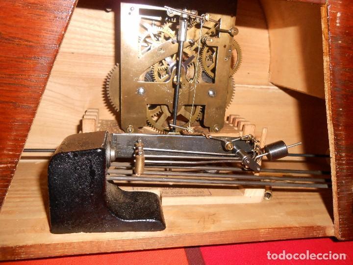 Relojes de carga manual: RELOJ DE SOBREMESA CON RARO PÉNDULO DE UNA VARILLA CON CONTRAPESOS. - Foto 3 - 97444207