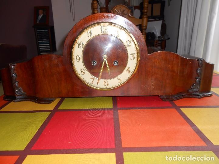Relojes de carga manual: RELOJ DE SOBREMESA CON RARO PÉNDULO DE UNA VARILLA CON CONTRAPESOS. - Foto 4 - 97444207