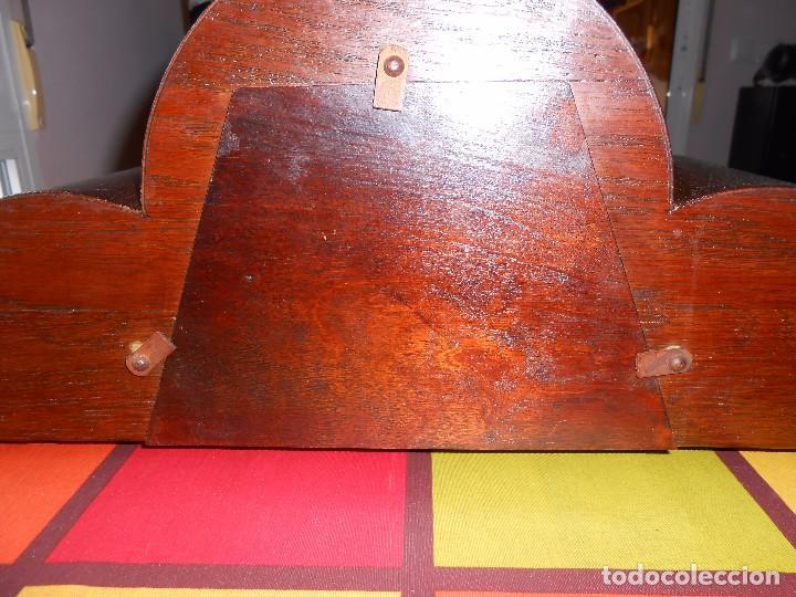 Relojes de carga manual: RELOJ DE SOBREMESA CON RARO PÉNDULO DE UNA VARILLA CON CONTRAPESOS. - Foto 7 - 97444207