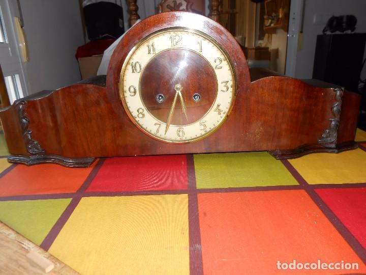 Relojes de carga manual: RELOJ DE SOBREMESA CON RARO PÉNDULO DE UNA VARILLA CON CONTRAPESOS. - Foto 11 - 97444207