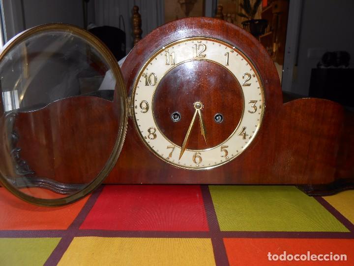 Relojes de carga manual: RELOJ DE SOBREMESA CON RARO PÉNDULO DE UNA VARILLA CON CONTRAPESOS. - Foto 12 - 97444207