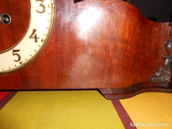 Relojes de carga manual: RELOJ DE SOBREMESA CON RARO PÉNDULO DE UNA VARILLA CON CONTRAPESOS. - Foto 13 - 97444207