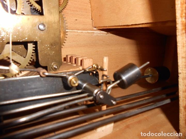Relojes de carga manual: RELOJ DE SOBREMESA CON RARO PÉNDULO DE UNA VARILLA CON CONTRAPESOS. - Foto 19 - 97444207