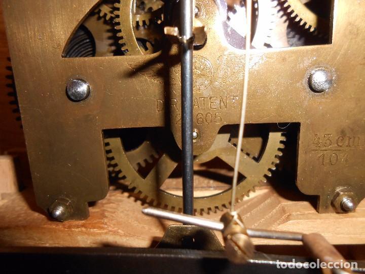 Relojes de carga manual: RELOJ DE SOBREMESA CON RARO PÉNDULO DE UNA VARILLA CON CONTRAPESOS. - Foto 21 - 97444207