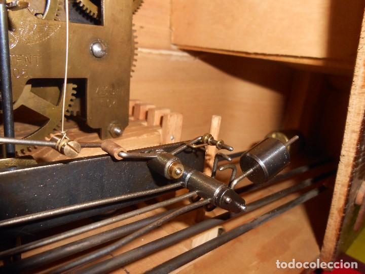 Relojes de carga manual: RELOJ DE SOBREMESA CON RARO PÉNDULO DE UNA VARILLA CON CONTRAPESOS. - Foto 23 - 97444207