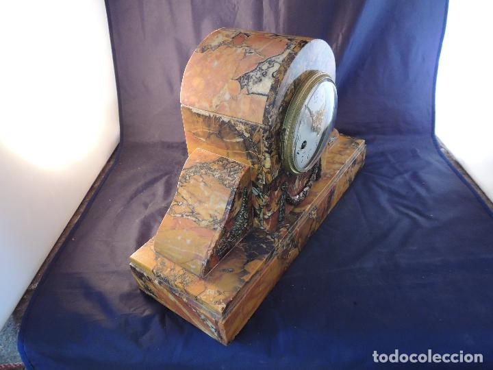Relojes de carga manual: RELOJ DE MARMOL SIENA ART DECO MAQUINA PARIS DE PORCELANA - Foto 6 - 97753415