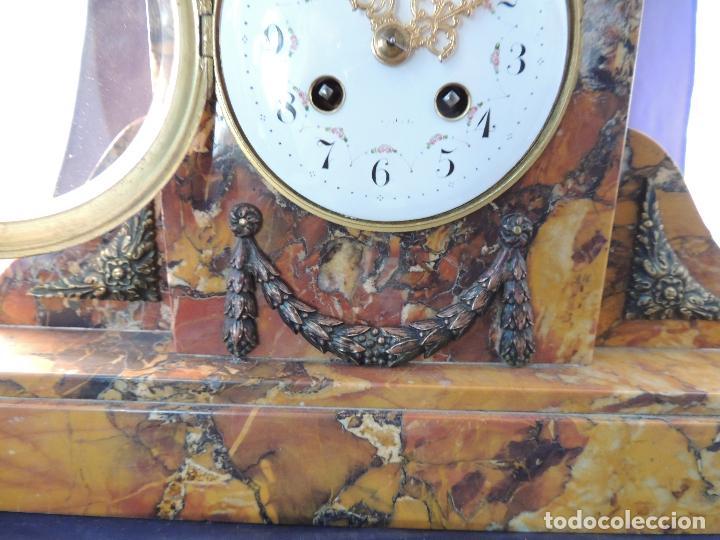 Relojes de carga manual: RELOJ DE MARMOL SIENA ART DECO MAQUINA PARIS DE PORCELANA - Foto 11 - 97753415