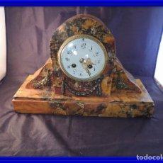 Relojes de carga manual: RELOJ DE MARMOL SIENA ART DECO MAQUINA PARIS DE PORCELANA. Lote 97753415