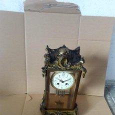 Relojes de carga manual: RELOJ DE VITRINA ESTILO LUIS XVI PÉNDULO MERCURIO BUEN ESTADO FUNCIONA PARA COLECION . Lote 98380455