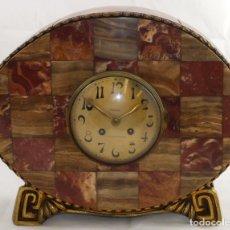 Relojes de carga manual: PRECIOSO RELOJ DE SOBREMESA DE LOS AÑOS 30. ART-NOUVEAU. MAQUINARIA MARCA WEBER. Lote 99145779