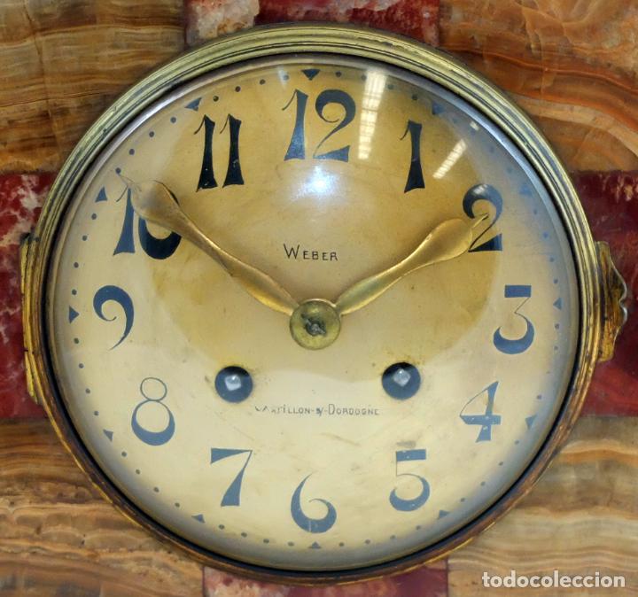 Relojes de carga manual: PRECIOSO RELOJ DE SOBREMESA DE LOS AÑOS 30. ART-NOUVEAU. MAQUINARIA MARCA WEBER - Foto 2 - 99145779