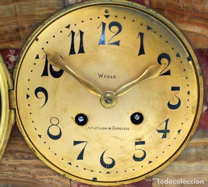Relojes de carga manual: PRECIOSO RELOJ DE SOBREMESA DE LOS AÑOS 30. ART-NOUVEAU. MAQUINARIA MARCA WEBER - Foto 3 - 99145779
