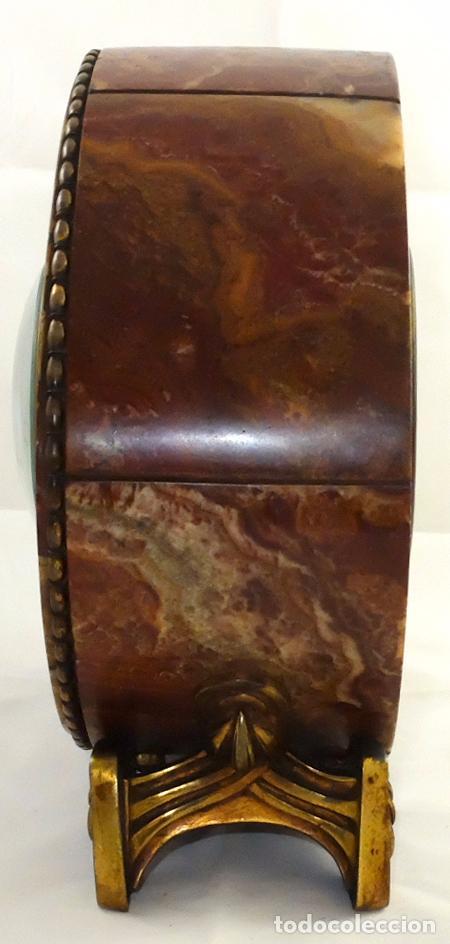 Relojes de carga manual: PRECIOSO RELOJ DE SOBREMESA DE LOS AÑOS 30. ART-NOUVEAU. MAQUINARIA MARCA WEBER - Foto 8 - 99145779