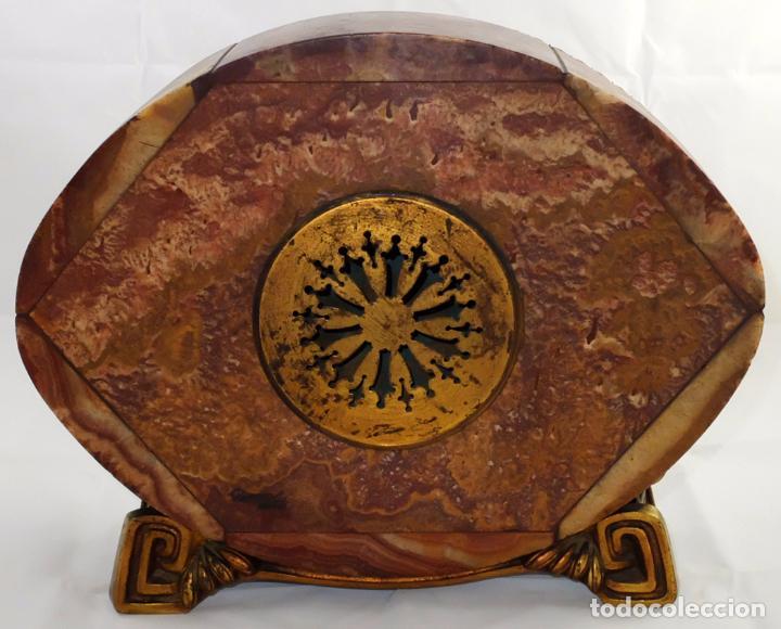 Relojes de carga manual: PRECIOSO RELOJ DE SOBREMESA DE LOS AÑOS 30. ART-NOUVEAU. MAQUINARIA MARCA WEBER - Foto 9 - 99145779