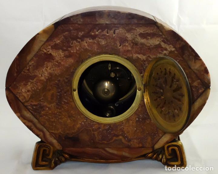 Relojes de carga manual: PRECIOSO RELOJ DE SOBREMESA DE LOS AÑOS 30. ART-NOUVEAU. MAQUINARIA MARCA WEBER - Foto 10 - 99145779