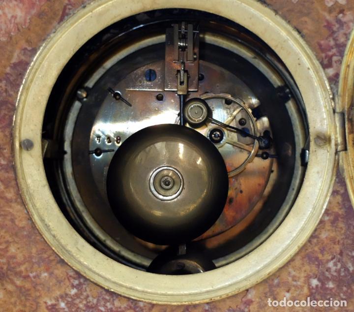 Relojes de carga manual: PRECIOSO RELOJ DE SOBREMESA DE LOS AÑOS 30. ART-NOUVEAU. MAQUINARIA MARCA WEBER - Foto 11 - 99145779