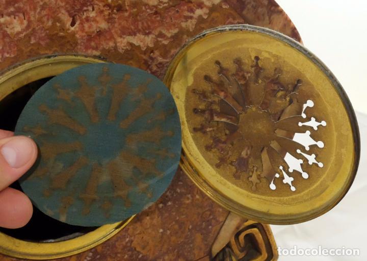 Relojes de carga manual: PRECIOSO RELOJ DE SOBREMESA DE LOS AÑOS 30. ART-NOUVEAU. MAQUINARIA MARCA WEBER - Foto 12 - 99145779