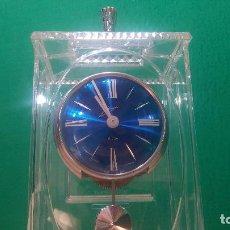 Relojes de carga manual: BOTITO RELOJ DE SOBREMESA ANTIGUO ESFERA AZUL MARINO, DE CUERDA FUNCIONANDO. Lote 99905827