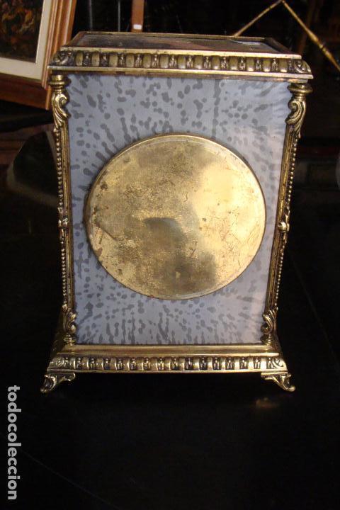Relojes de carga manual: Reloj de bronce y esmaltes - Siglo XIX - Foto 3 - 100326127