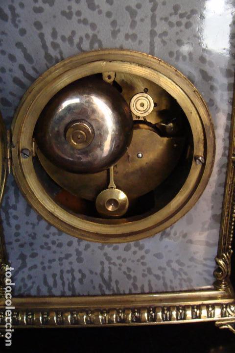 Relojes de carga manual: Reloj de bronce y esmaltes - Siglo XIX - Foto 4 - 100326127