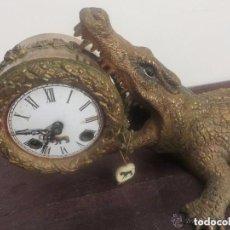 Relojes de carga manual: RELOJ COCODRILO FIGURA DE BRONCE-ARTE BURRO-. Lote 102730855