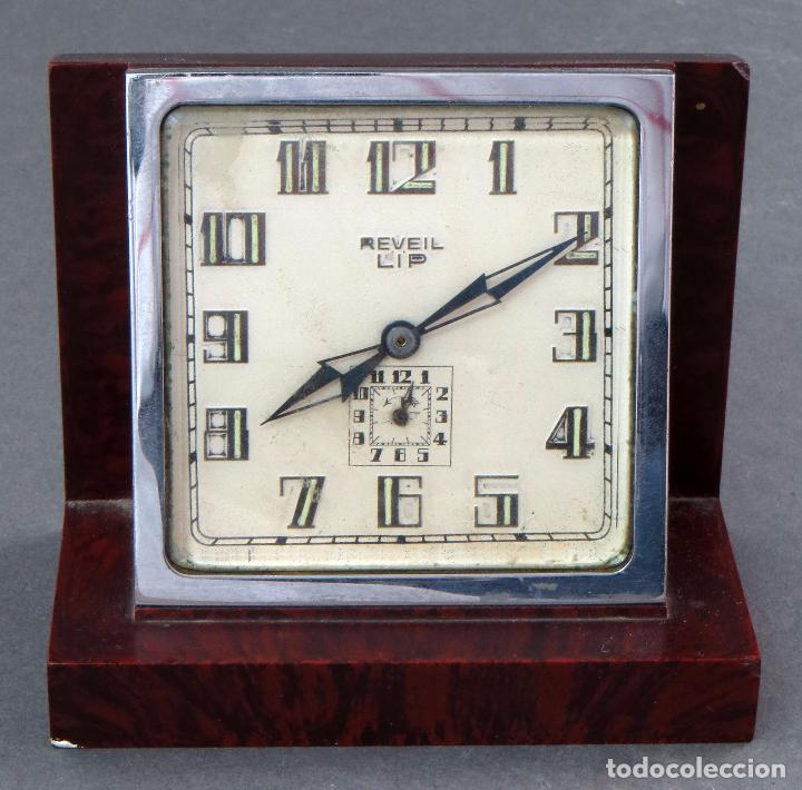RELOJ DE BAQUELITA REVEIL LIP 483 AÑOS 50 (Relojes - Sobremesa Carga Manual)