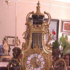 Relojes de carga manual: MAGNIFICO RELOJ ITALIANO CON GUARNICION DE CANDELABROS - BRONCE Y MARMOL - VER FOTOGRAFIAS. Lote 103660351