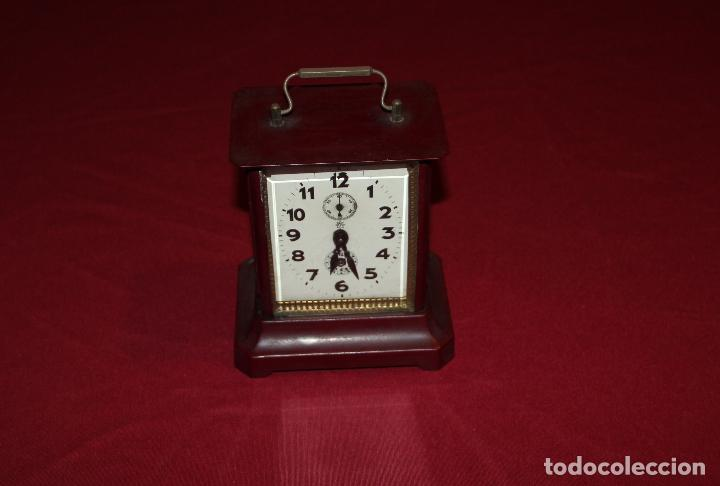 ANTIGUO RELOJ DE CARRUAJE JUNGHANS (Relojes - Sobremesa Carga Manual)