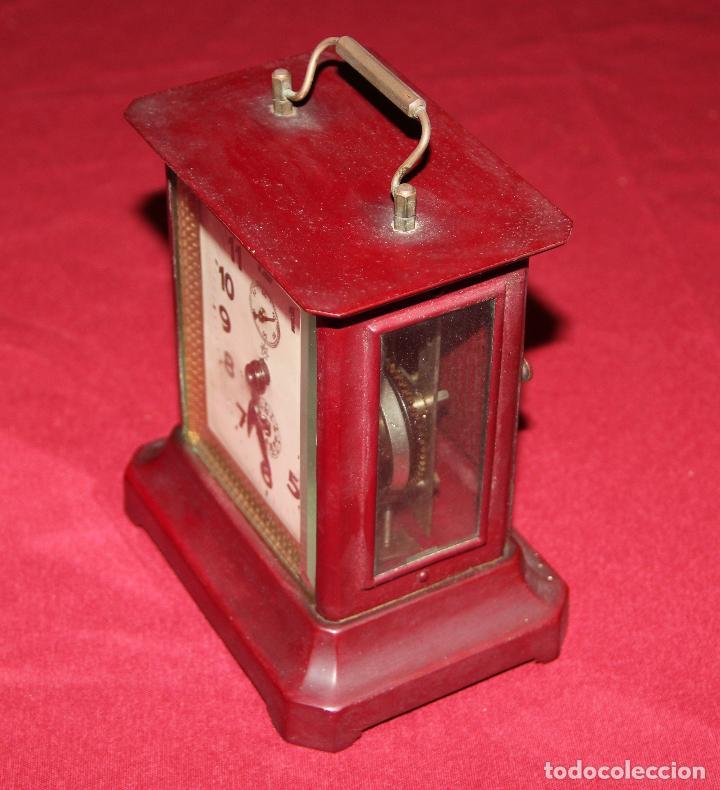 Relojes de carga manual: ANTIGUO RELOJ DE CARRUAJE JUNGHANS - Foto 2 - 104053059