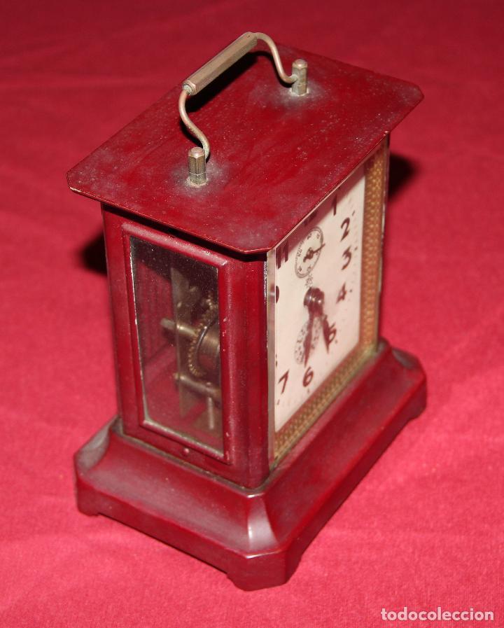 Relojes de carga manual: ANTIGUO RELOJ DE CARRUAJE JUNGHANS - Foto 3 - 104053059