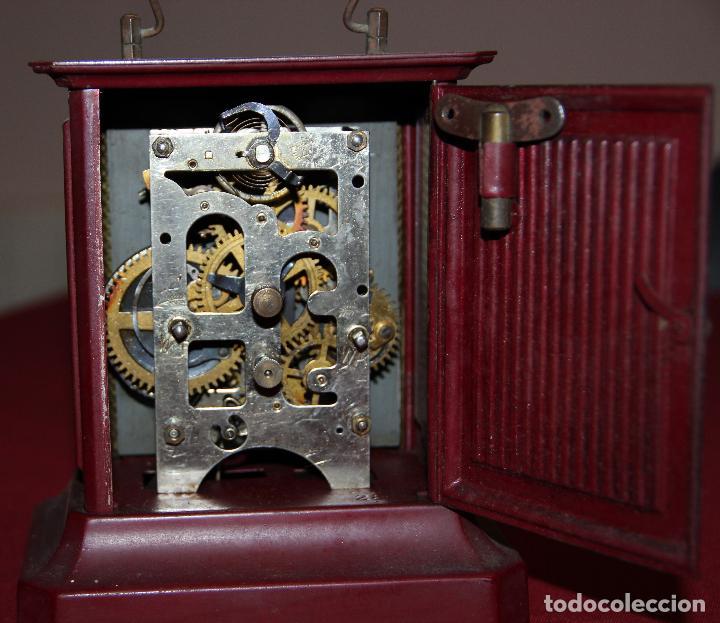 Relojes de carga manual: ANTIGUO RELOJ DE CARRUAJE JUNGHANS - Foto 5 - 104053059