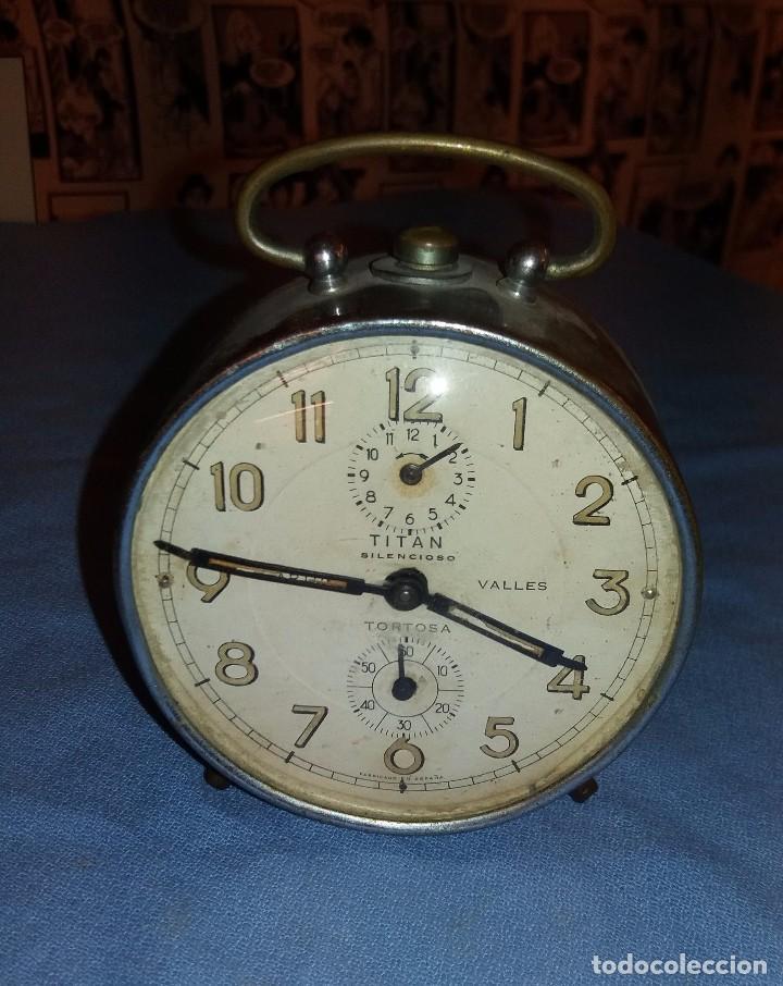 Antiguo En Despertador Venta Vendido Titan Silencioso De Reloj A 3A5Rj4L