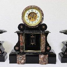 Relojes de carga manual: ESPECTACULAR RELOJ DE ORIGEN FRANCÉS DEL NOTARIO CON SUS GUARNICIONES A JUEGO.. Lote 104502167