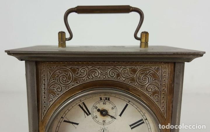 Relojes de carga manual: RELOJ DE CARRUAJE. JUNGHANS. JAULA DE METAL. NO FUNCIONA. SIGLO XIX-XX. - Foto 2 - 104588115