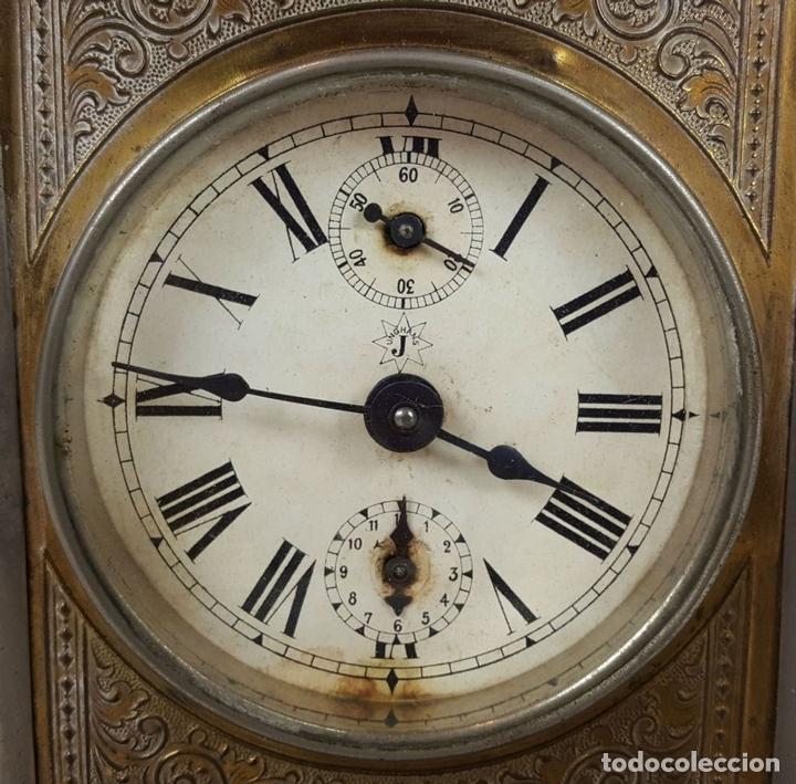 Relojes de carga manual: RELOJ DE CARRUAJE. JUNGHANS. JAULA DE METAL. NO FUNCIONA. SIGLO XIX-XX. - Foto 3 - 104588115