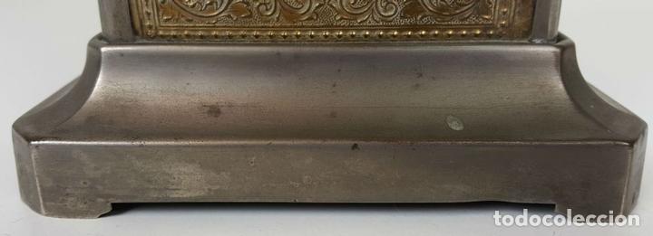 Relojes de carga manual: RELOJ DE CARRUAJE. JUNGHANS. JAULA DE METAL. NO FUNCIONA. SIGLO XIX-XX. - Foto 4 - 104588115