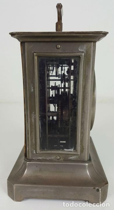 Relojes de carga manual: RELOJ DE CARRUAJE. JUNGHANS. JAULA DE METAL. NO FUNCIONA. SIGLO XIX-XX. - Foto 5 - 104588115
