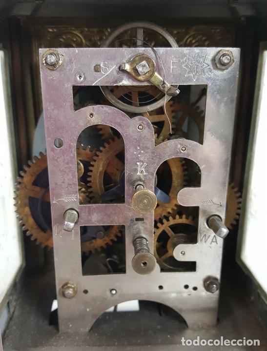 Relojes de carga manual: RELOJ DE CARRUAJE. JUNGHANS. JAULA DE METAL. NO FUNCIONA. SIGLO XIX-XX. - Foto 8 - 104588115