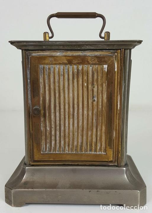 Relojes de carga manual: RELOJ DE CARRUAJE. JUNGHANS. JAULA DE METAL. NO FUNCIONA. SIGLO XIX-XX. - Foto 9 - 104588115