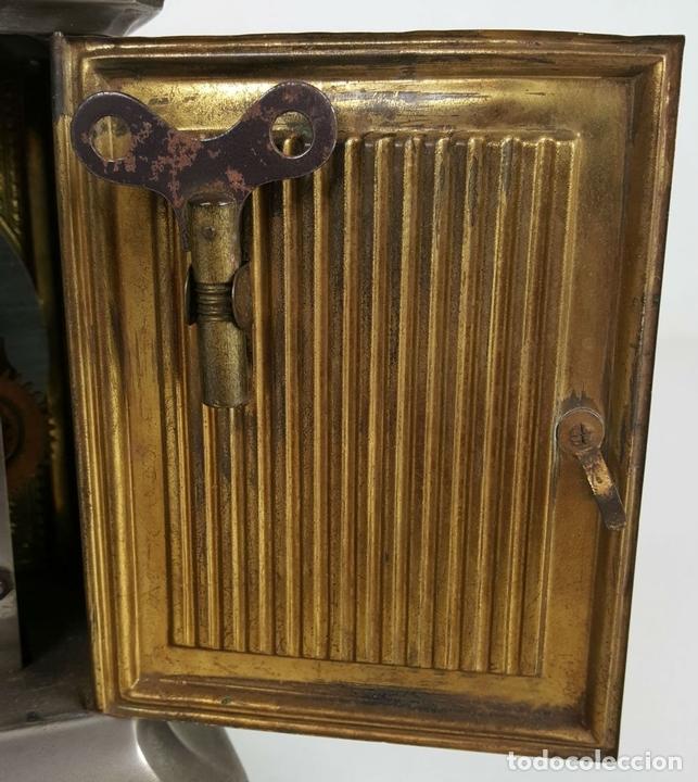 Relojes de carga manual: RELOJ DE CARRUAJE. JUNGHANS. JAULA DE METAL. NO FUNCIONA. SIGLO XIX-XX. - Foto 10 - 104588115