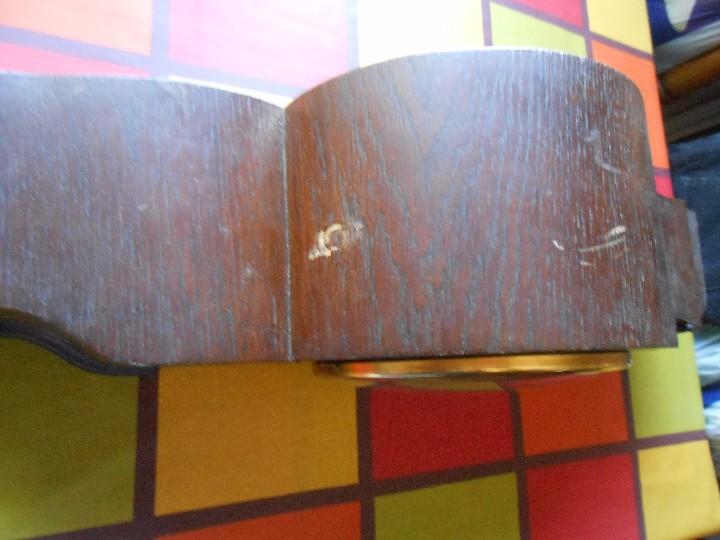 Relojes de carga manual: RELOJ DE SOBREMESA CON RARO PÉNDULO DE UNA VARILLA CON CONTRAPESOS. - Foto 9 - 97444207