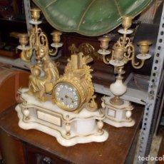 Kaminuhren - Reloj de sobremesa con candelabros - 104961723
