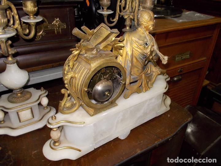 Relojes de carga manual: Reloj de sobremesa con candelabros - Foto 9 - 104961723