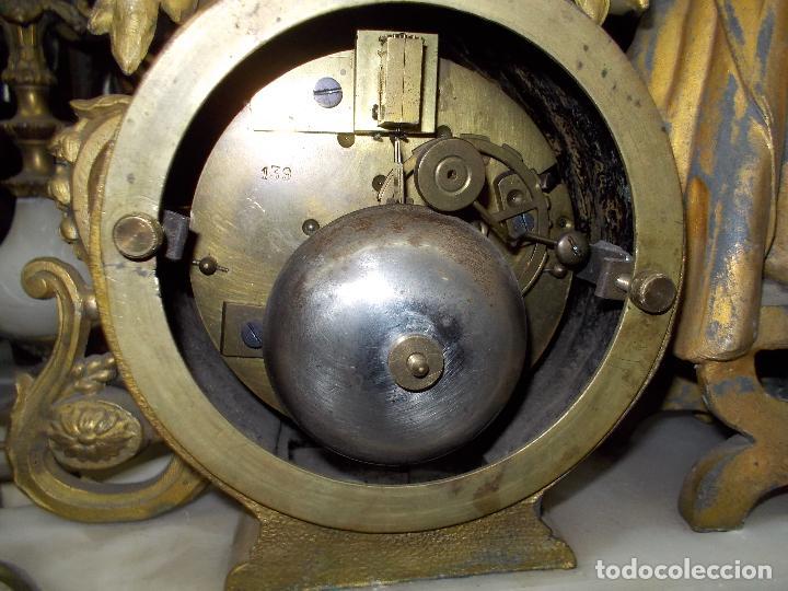 Relojes de carga manual: Reloj de sobremesa con candelabros - Foto 11 - 104961723