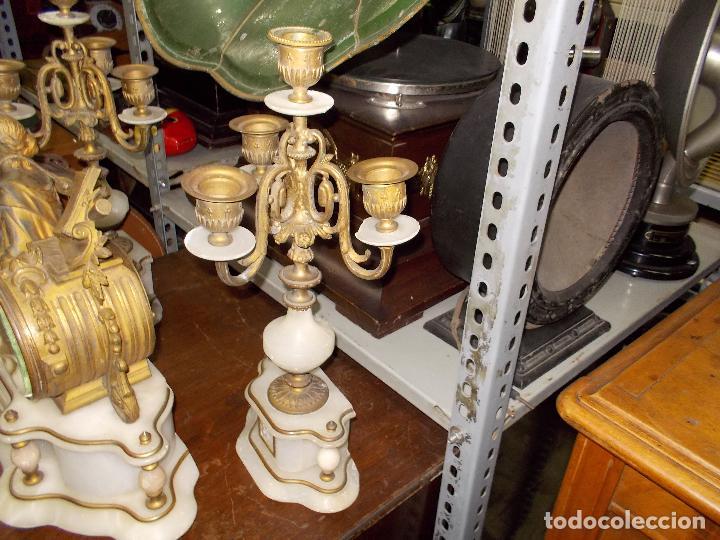 Relojes de carga manual: Reloj de sobremesa con candelabros - Foto 20 - 104961723