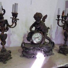Relojes de carga manual: RELOJ DE SOBREMESA IMPRESIONANTE CALAMINA. Lote 107318587
