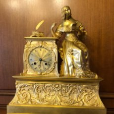 Relojes de carga manual: RELOJ SOBREMESA BRONCE DORADO AL MERCURIO. Lote 110258380