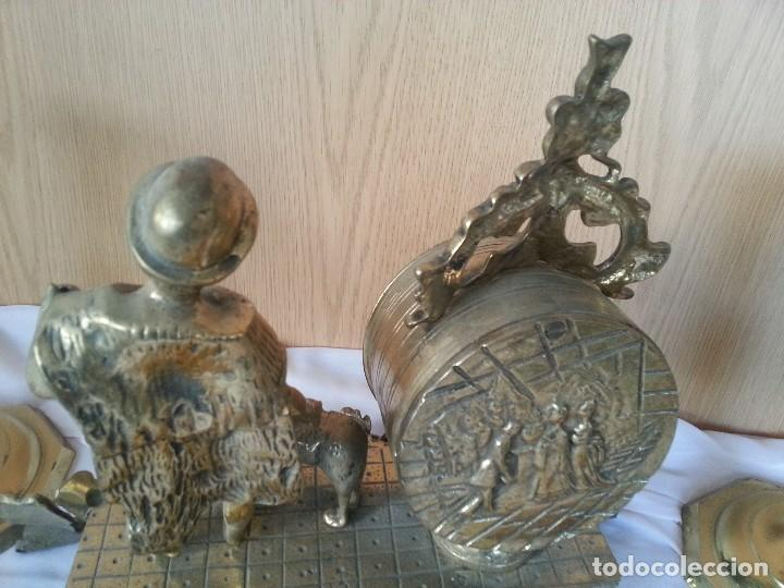 Relojes de carga manual: Reloj de sobre-mesa en bronce + pareja de candelabros a juego - Foto 11 - 110493315