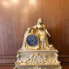 Relojes de carga manual: RELOJ SOBREMESA BRONCE DORADO AL MERCURIO. Lote 110495774